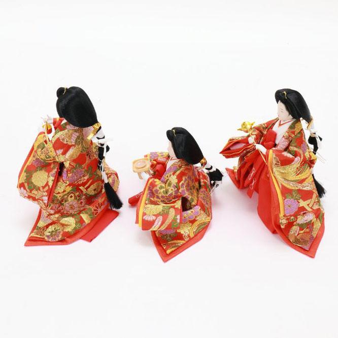 ひな人形 五人飾り 4H15-GP-007 三人官女(横)