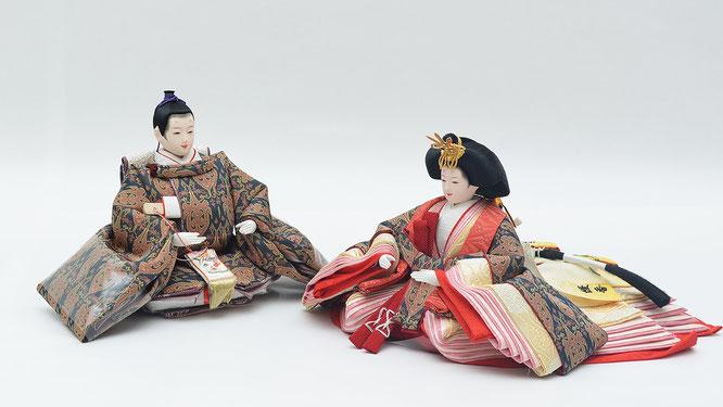 優香作「親王揃い」帯鈎文錦(京十二)