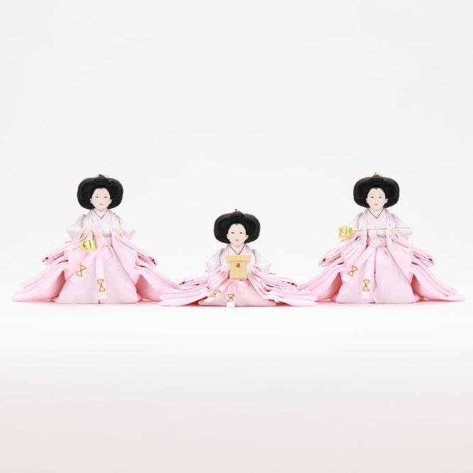 ひな人形 五人収納箱飾り 4H16-GP-022 三人官女(正面)