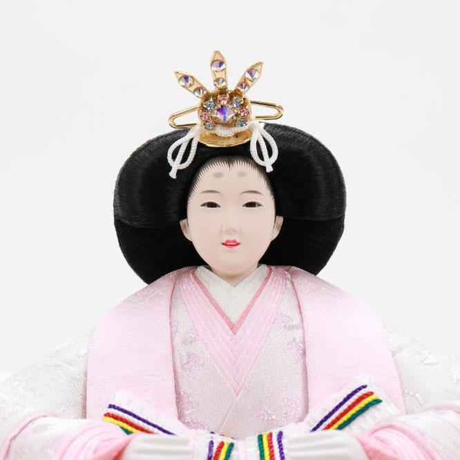 ひな人形 五人収納箱飾り 4H16-GP-022 女雛(顔)