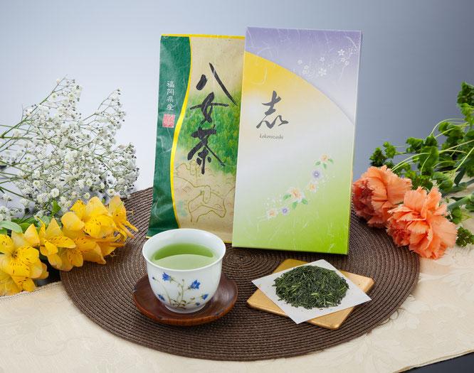 初盆用返礼品 八女煎茶詰合せ 1,000円(税込価格1,080円)