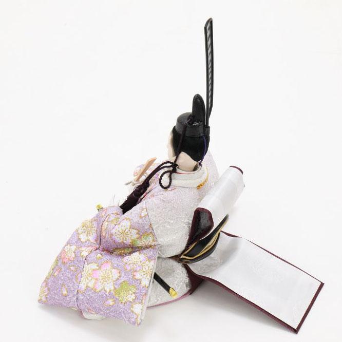 ひな人形 五人収納箱飾り 4H16-GP-025 男雛(横)