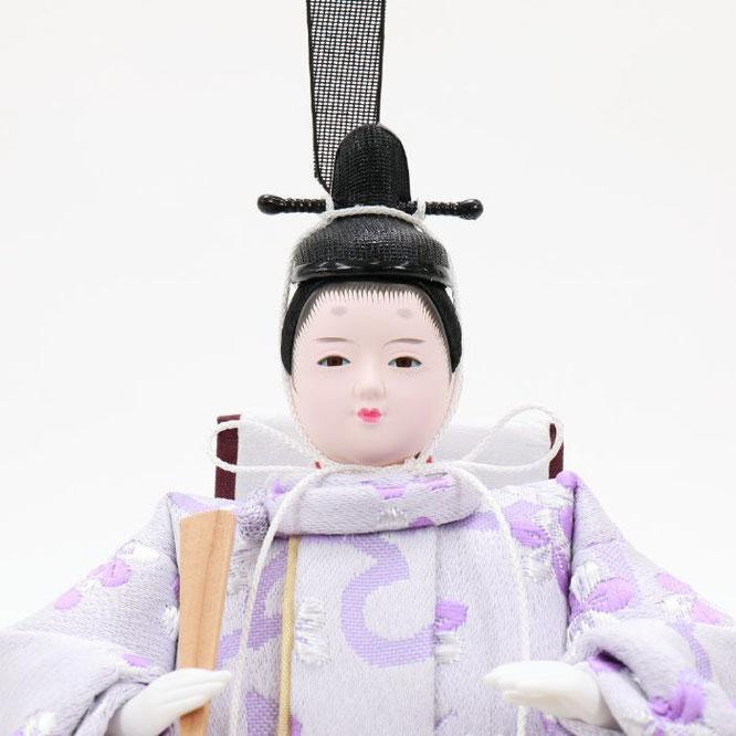 ひな人形 親王収納箱飾り 4H12-GP-078 男雛(顔)