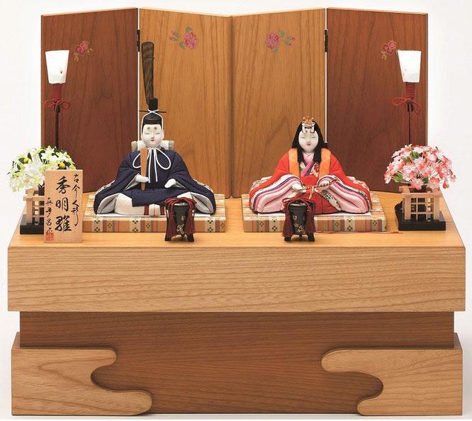 真多呂人形 親王飾り「秀明雛セット」品番:1289 収納式