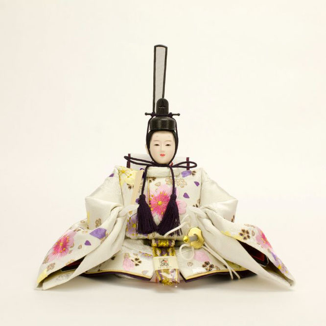 ひな人形 親王収納箱飾り 4H12-GP-073 男雛(正面)