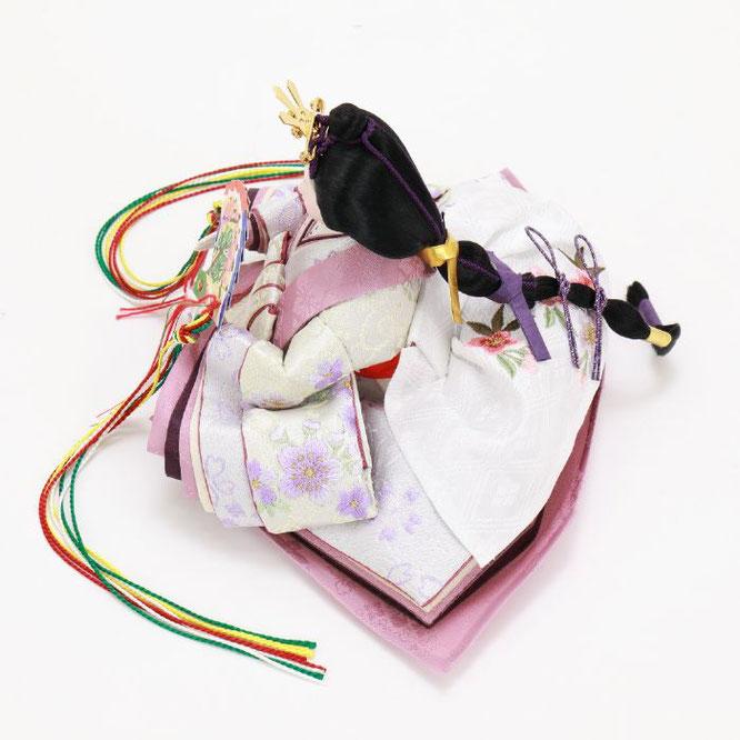 ひな人形 五人収納箱飾り 4H16-GP-027 女雛(横)