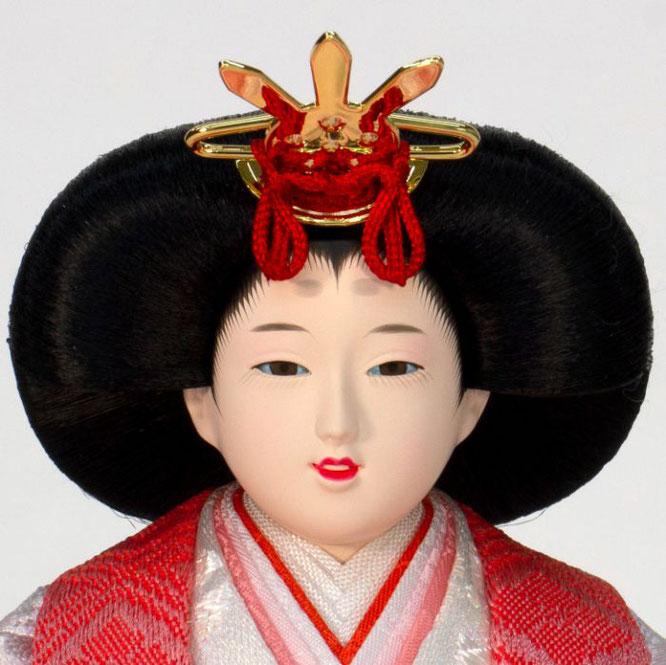 ひな人形 五人収納箱飾り 4H16-GP-018C 女雛(正面)