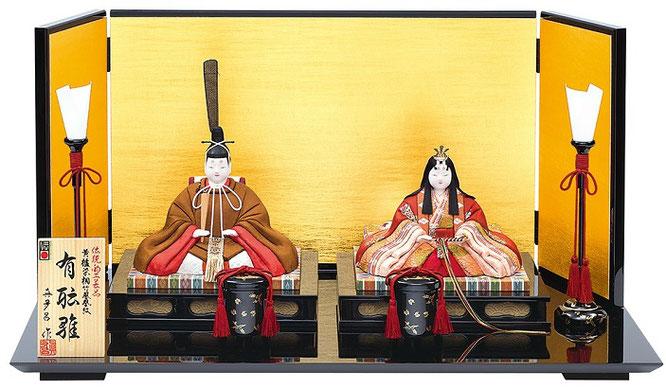 真多呂人形 親王飾り「有職雛セット」品番:1276 伝統的工芸品