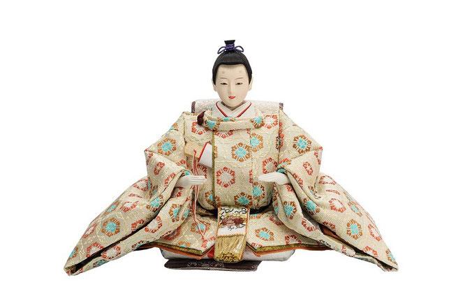 優香作ひな人形 七宝華紋 男雛(京十二)