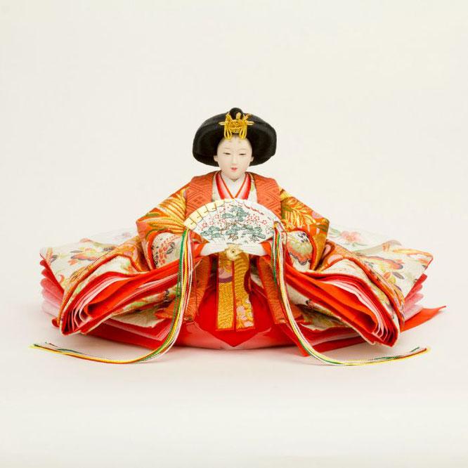ひな人形 五人飾り 4H15-GP-002 女雛(正面)