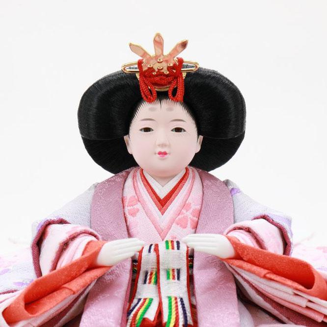 ひな人形 親王収納箱飾り 4H12-GP-078 女雛(顔)