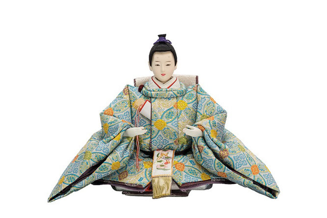 優香作ひな人形 七宝花菱 男雛(京十二)