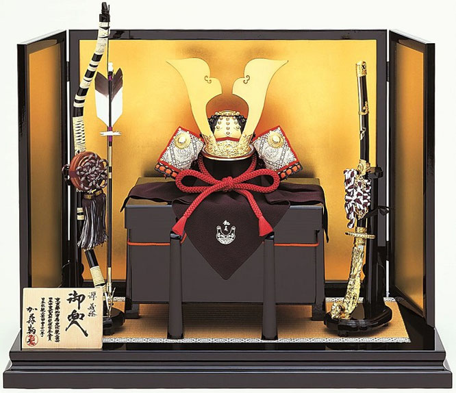 鞆美作「二分の一 義経兜飾りセット」 品番:3203