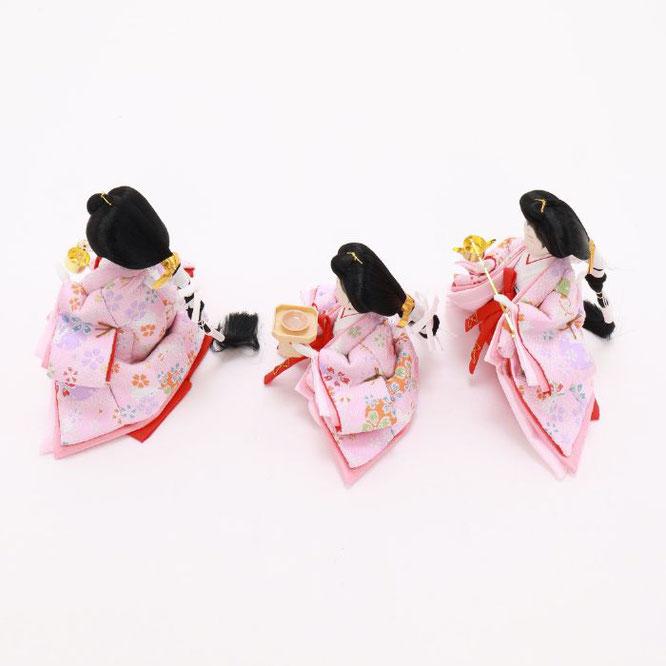 ひな人形 五人収納箱飾り 4H16-GP-017C 三人官女(横)