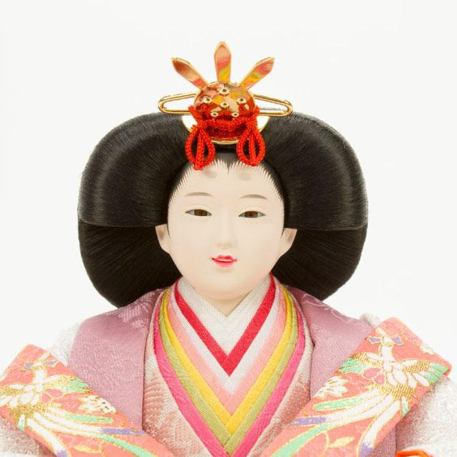 ひな人形 親王収納箱飾り 4H12-GP-072A 女雛(顔)