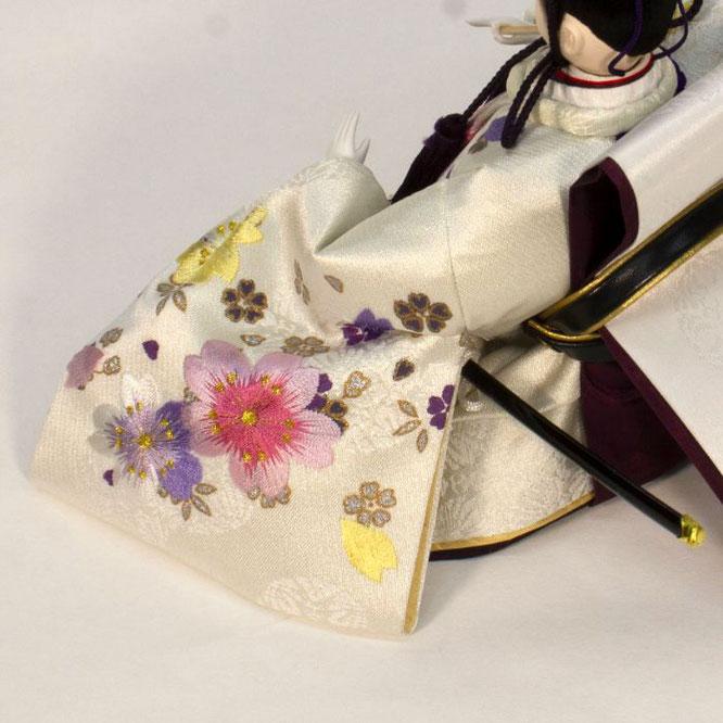ひな人形 親王収納箱飾り 4H12-GP-073 男雛(横)