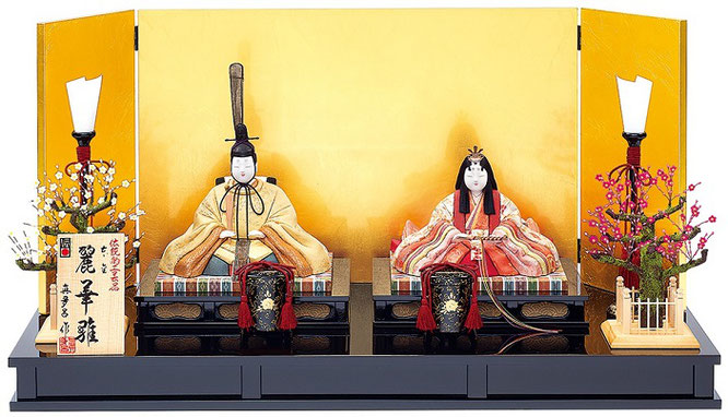 真多呂人形 親王飾り「本金 麗華雛セット」品番:1881