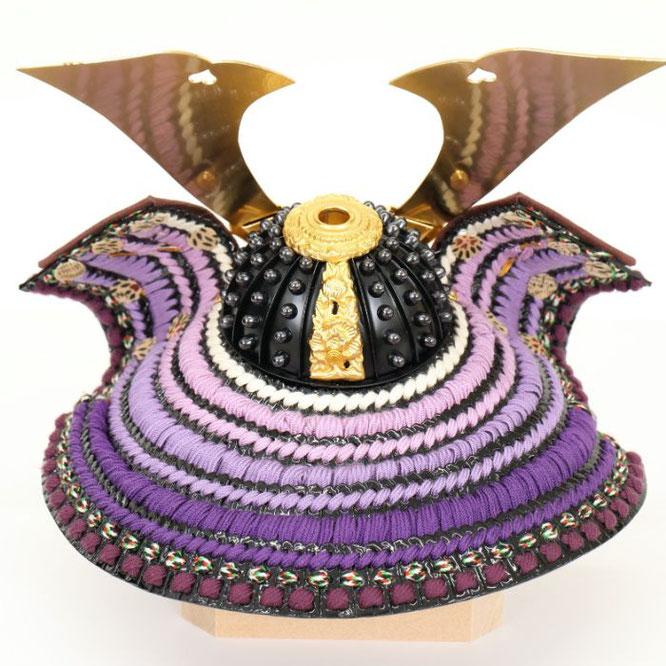 辰広作 兜「将」紫段1/5 品番:5240-04-140 背面