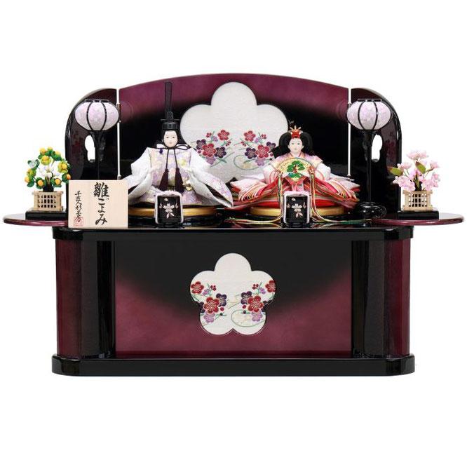 ひな人形 親王収納箱飾り 4H12-GP-072A 親王収納箱飾り一式(正面)
