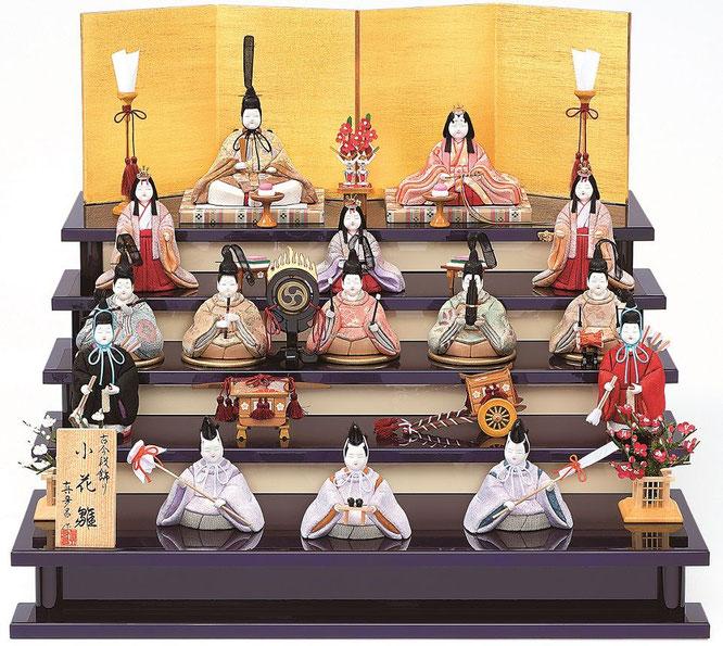 真多呂人形「小花雛15人飾り」品番:1378
