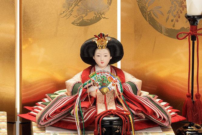 優香作「親王飾り」麹塵 女雛(京十三)
