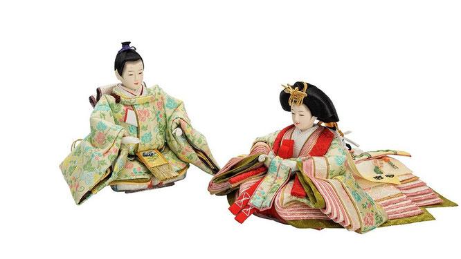 優香作ひな人形 親王揃い 蔓葡萄(京十三)