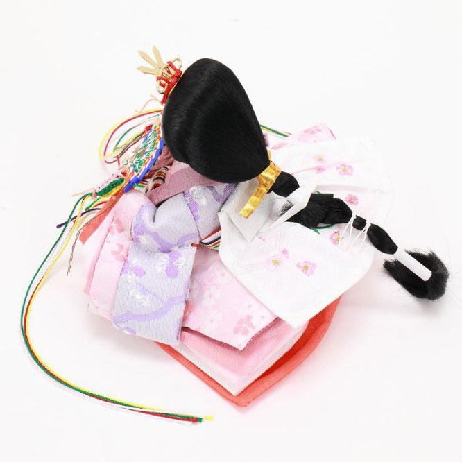 ひな人形 親王収納箱飾り 4H12-GP-078 女雛(横)