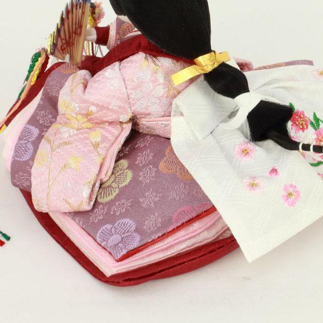 ひな人形 親王収納箱飾り 4H12-GP-066A 女雛(横)