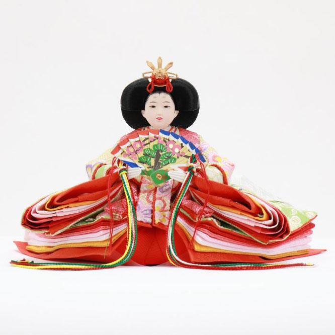 ひな人形 五人収納箱飾り 4H16-GP-019 女雛(正面)