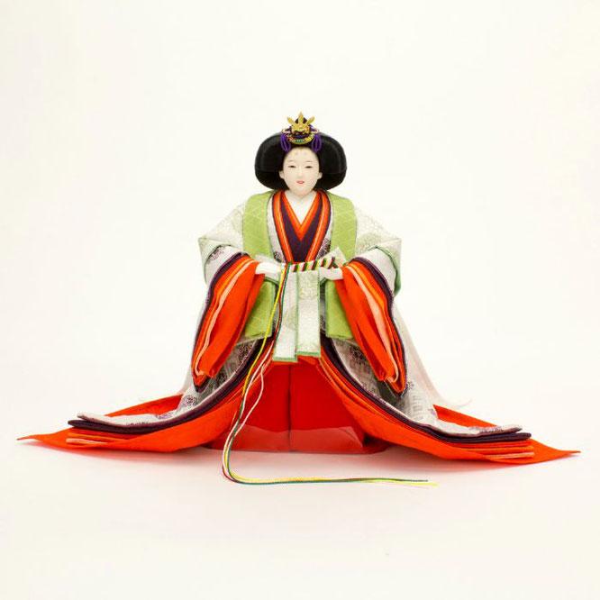 ひな人形 立雛飾り 4H13-GP-304 女雛(正面)