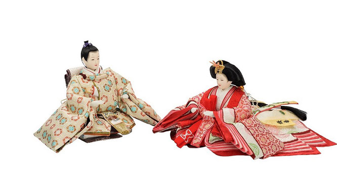 優香作ひな人形 親王揃い 七宝華紋(京十二)
