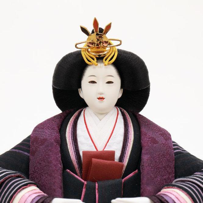 ひな人形 親王飾り(博暁作)4H11-GP-052 女雛(顔)