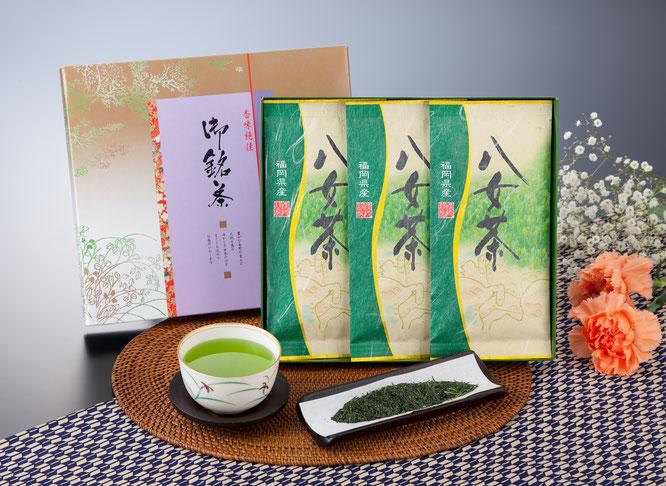 初盆用返礼品 八女煎茶詰合せ 1,500円(税込価格1,620円)