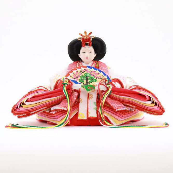 ひな人形 五人収納箱飾り 4H16-GP-017C 女雛(正面)