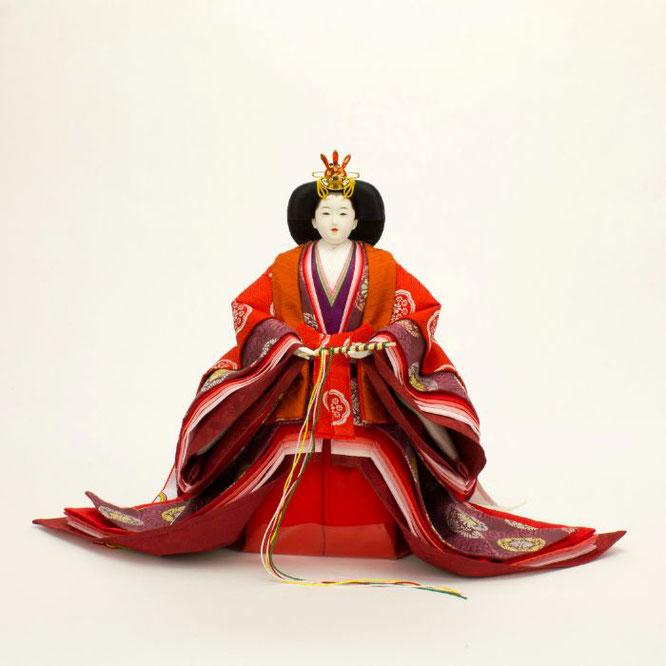 ひな人形 立雛飾り 4H13-GP-302 女雛(正面)