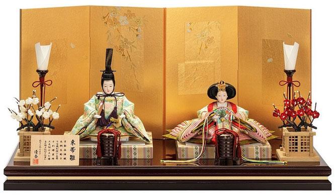 優香作ひな人形「親王飾り」蔓葡萄 京十三