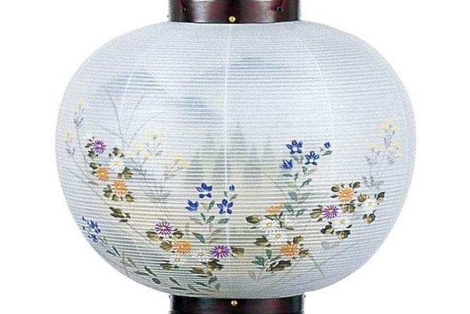 盆提灯 行灯「桜」菊桔梗山水 火袋