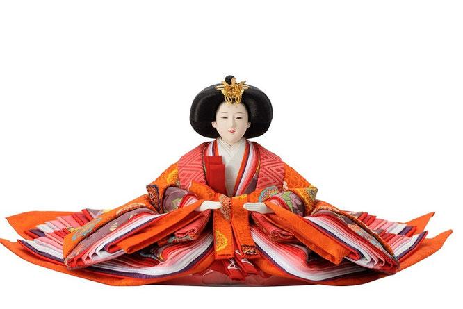 優香作「親王飾り」黄櫨染御袍 女雛(京十)