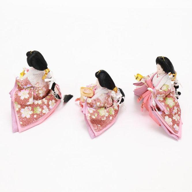ひな人形 五人収納箱飾り 4H16-GP-025 三人官女(横)