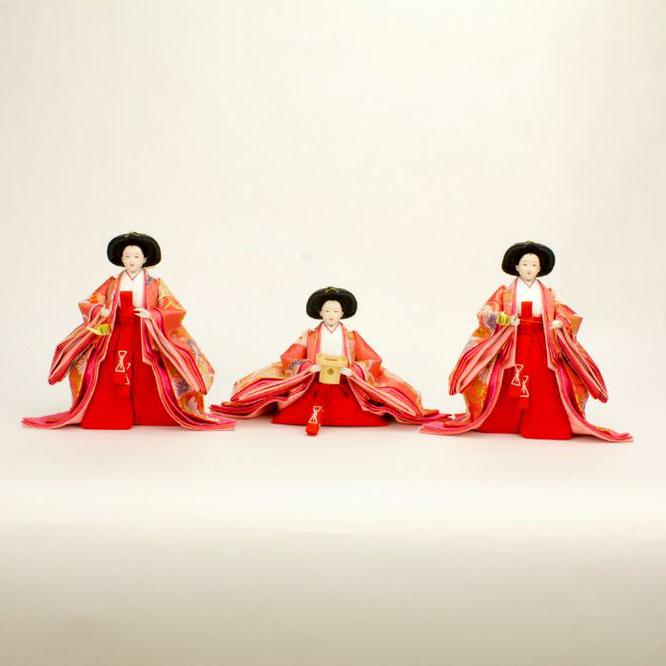 ひな人形 五人飾り 4H15-GP-002 三人官女(正面)