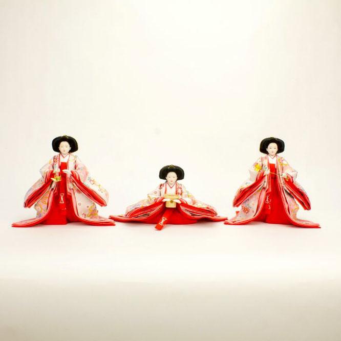 ひな人形 五人飾り 4H15-GP-004 三人官女(正面)