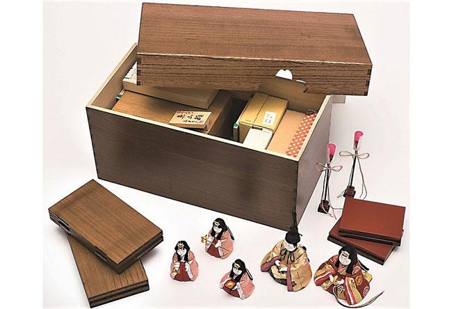 真多呂人形「東山雛5人飾り」 収納イメージ
