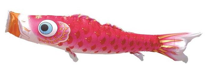 鯉のぼり 女の子用ピンク鯉「夢はるか」