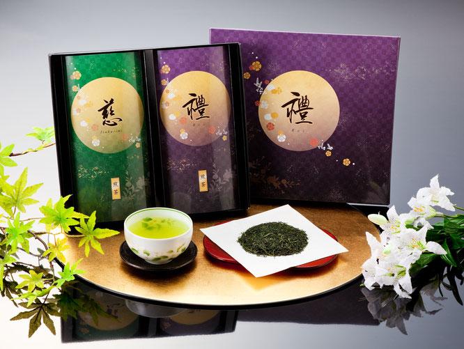 初盆用返礼品 八女星野煎茶詰合せ 2,000円(税込価格2,160円)