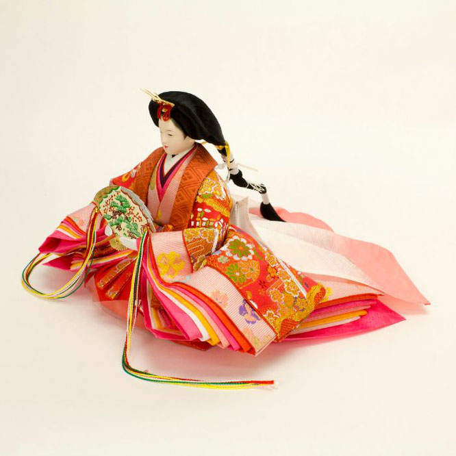 ひな人形 五人飾り 4H15-GP-008A 女雛(横)