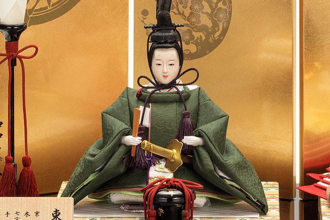 優香作「親王飾り」麹塵 男雛(京十三)