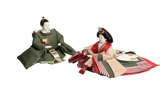 優香作「親王飾り」麹塵 男雛と女雛(京十一)