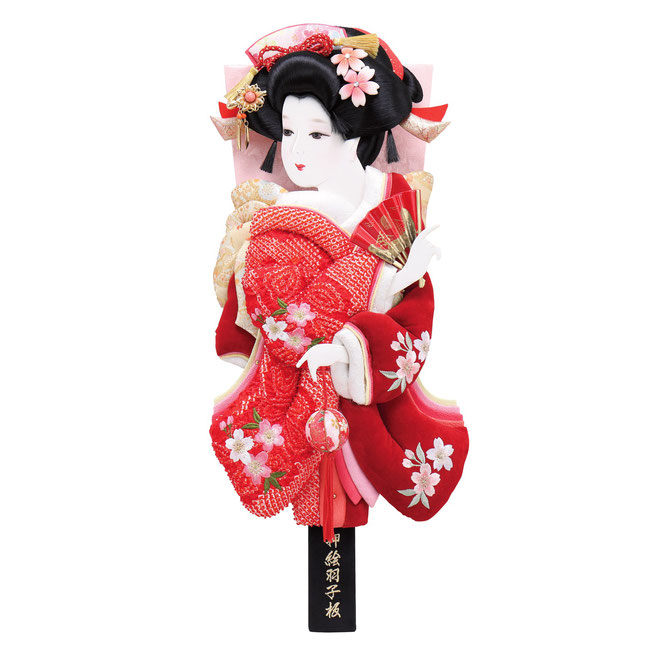 羽子板「桜小町振袖」まり飾り