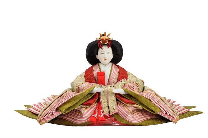 優香作「親王飾り」麟鳳襷紋 女雛(京十二)