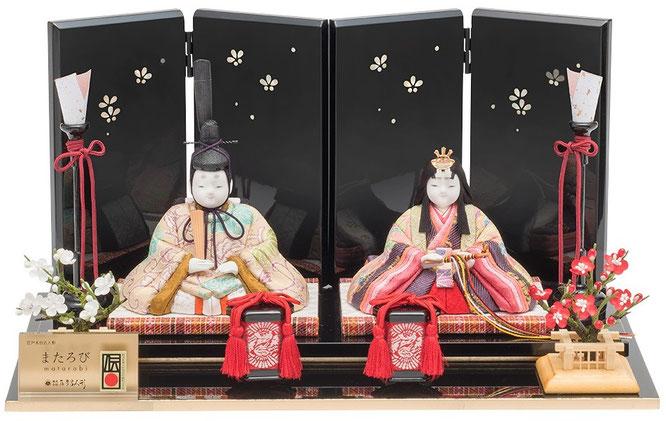 真多呂人形 またろび 親王飾り「瑞」品番:9004